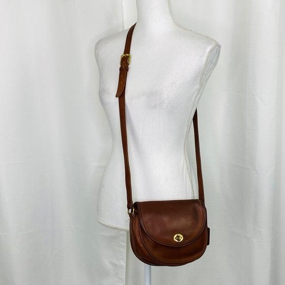 Vintage 1990s Brown Coach Watson Crossbody Bag